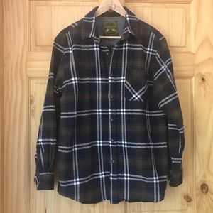 Anchorage heavyweight plaid flannel shirt Sz L